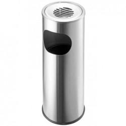 HELIT Cendrier corbeille, rond, argent, diamètre: 340 mm