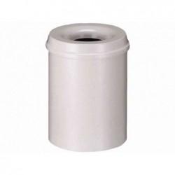 HELIT corbeille à papier en acier, avec tête anti-feu, 15 l