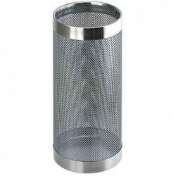 HELIT Porte parapluie métal Déco perforé Diam 210 mm H 490 mm Chrome