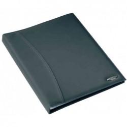 REXEL Soft Touch livret de présentation aspect lisse A4 24 pochettes noir lisse