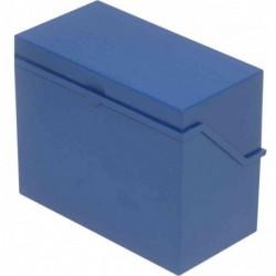 HELIT petite caisse de fichier format A6 à l'italienne, bleu