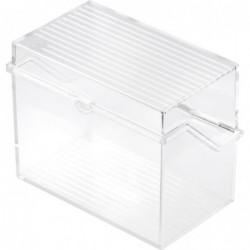 HELIT petite boîte à fiches  A6 à l'italienne, transparent