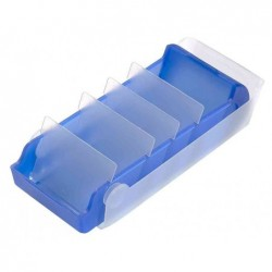 HELIT Boite Fichier BeeBox A8 5 Compartiments Bleu