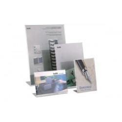 HELIT Présentoir de bureau format A4 frappe, acrylique,