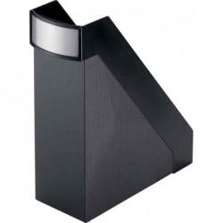 HELIT Porte-revues Linear Format A4 Polystyrène Dos de 10 cm Noir