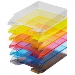 HELIT Lot de 5 corbeilles à courrier Economy A4 Transparent Incolore