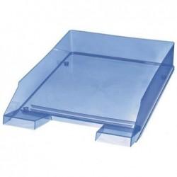 HELIT Lot de 5 corbeilles à courrier Economy A4 Transparent Bleu