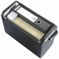 HELIT boîte mobile avec pot à crayons, gris lumière