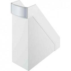 HELIT Porte-revues Linear format A4 polystyrène os de 10 cm Blanc