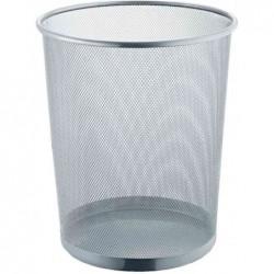 HELIT Corbeille à papier Mesh Métal H 28 cm 15 litres Argent