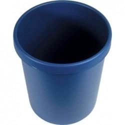 HELIT Corbeille à papier en plastique, rond, 30 litres, bleu
