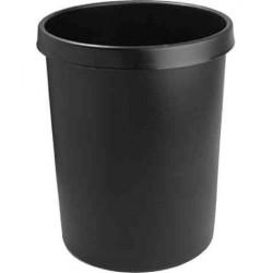 HELIT Corbeille à papier en plastique, rond, 45 litres, bleu