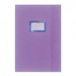 HERLITZ Protège-cahiers Structuré A4 Avec étiquette collée Violet