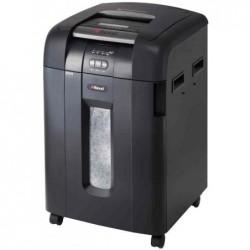 REXEL Destructeur Auto+ 600M CC 2x15 mm 600 Feuilles 80 Litres Niveau P5 Noir
