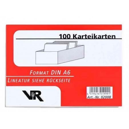VIKTOR RICHTER Pqt de 100 fiches A6 lignées Blanc