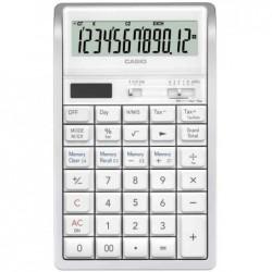 CASIO Calculatrice de bureau RT-7000WE, alimentation solaire/pile Blanc