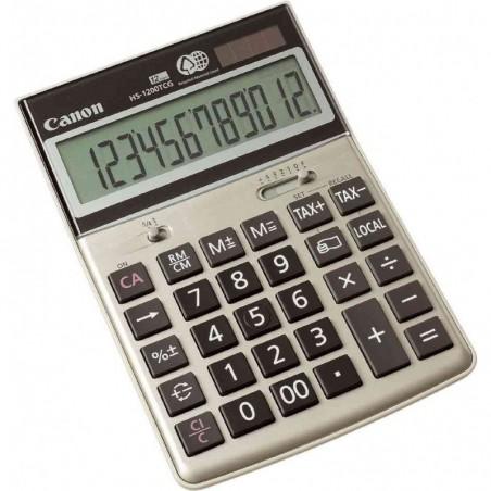 CANON Calculatrice de Bureau HS-1200 TCG 12 Chiffres Solaire et piles