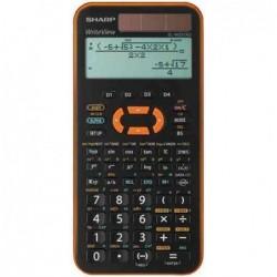 SHARP Calculatrice scientifique EL-W531 XG, solaire Orange