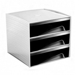 CEP mini module de classement MyCube, 3 tiroirs, noir