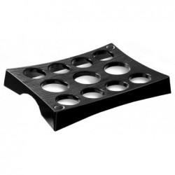 CEP porte-gobelet, pour 11 gobelets, noir, en polystyrène