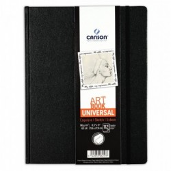 CANSON Bloc de croquis Art Book Universal 112 Feuilles 96 g 21,6 x 27,9 cm Noir