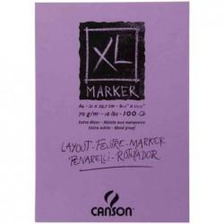 "CANSON bloc 100 Feuilles Croquis ""XL MARKER"" A3 70g Blanc"