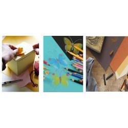 CANSON Pochette de 8 Feuilles Papier dessin Mi-Teintes 160g A3 couleur vive