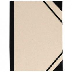 CANSON Carton à dessin Brut Customisable 2 élastiques 26 x 33 cm Gris