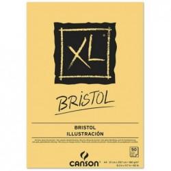 """CANSON Bloc croquis Collé petit côté """"XL Bristol"""" A4 180g Très Lisse Blanc"""