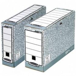FELLOWES Lot de 10 Boîtes d'archivage Bankers Box, gris/blanc, (L)80 mm