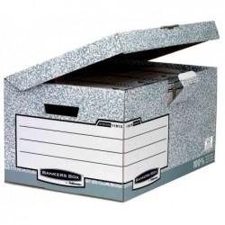 FELLOWES Pack de 10 boîtes d'archivage à couvercle rabattable Maxi