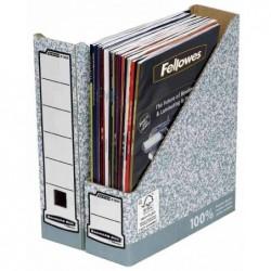 FELLOWES Porte-revues Bankers Box, gris/blanc dos de 80mm, lot de 10