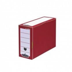 FELLOWES Lot de 10 Boites archive PRESTO PREMIUM Dos de 12 cm Rouge