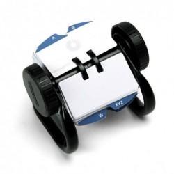 ROLODEX Fichier rotatif classique mini Avec 250 fiches et registre Noir