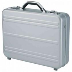 "ALUMAXX Laptop-Attaché-Case ""MERCATO"", aluminium, argent"