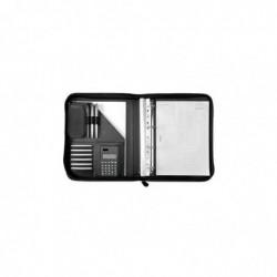 ALASSIO Serviette classeur RICCIONE format A4 PU Noir