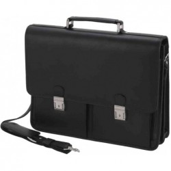 "ALASSIO Attaché case ""VENETO"" Compartiment PC 15"" Similicuir Noir"