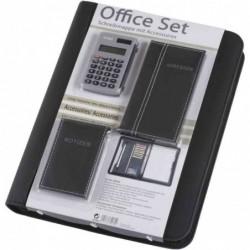 """ALASSIO Serviette classeur """"Office Set"""" avec accessoires Noir"""