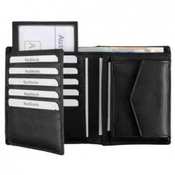 """ALASSIO Porte-monnaie """"Saftey-Wallet"""", en cuir, noir"""