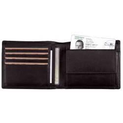 """ALASSIO porte-monnaie """"RFID Document Safe"""", cuir souple, format à l'italienne"""