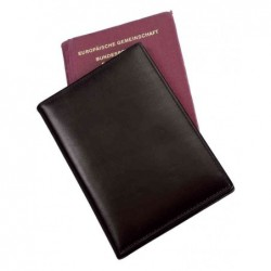 "ALASSIO Etui passeport ""RFID Document Safe"", cuir nappa noir"