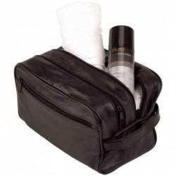"""ALASSIO Trousse de toilette """"Jumbo"""" Cuir Noir (L)280 x (P140 x (H)160 mm"""