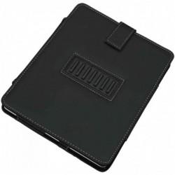 ALASSIO Housse iPad, similicuir, noir, avec coutures blanches