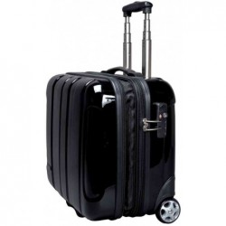 JSA Valise de voyage Business Trolley Overnight Polycarbonate Noir