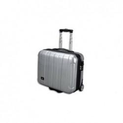 JSA Business case en polycarbonate et Abs rigide Silver avec poignée Trolleysystem