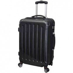JSA Trolley de voyage, grand, en ABS, noir, aspect carbon