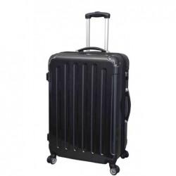 JSA Valise trolley, moyen, en ABS, noir, aspect carbon