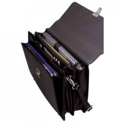 """ALASSIO Porte-documents """"FOGGIA"""" Compartiment portable Cuir Noir"""