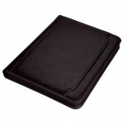 """ALASSIO porte documents à anneaux """"MASSA"""", A4, simili cuir, noir"""