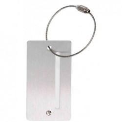 ALASSIO Porte adresse, en aluminium,(L)45 x (P)3 x (H)78mm